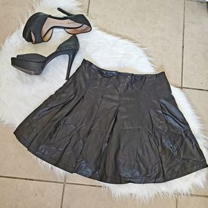 NWT! Black Pleaded Mini School Girl Skirt